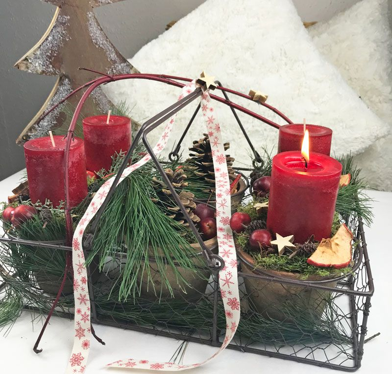 Adventskranz – mal ganz anders Advent Pinterest Advent, Weihnachten és Adventszeit