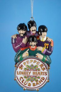 SGT PEPPER BAND ON THE DRUM ORNAMENT