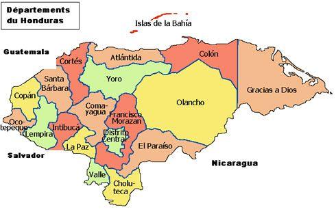 Mapa De Honduras Superficie De Honduras 112 492 Km Idioma
