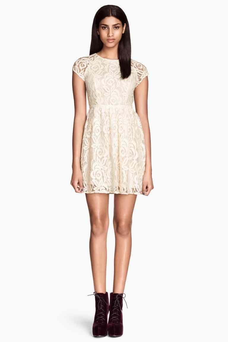 Vestido de encaje | H&M 29.99€ (con imágenes) | Vestidos de
