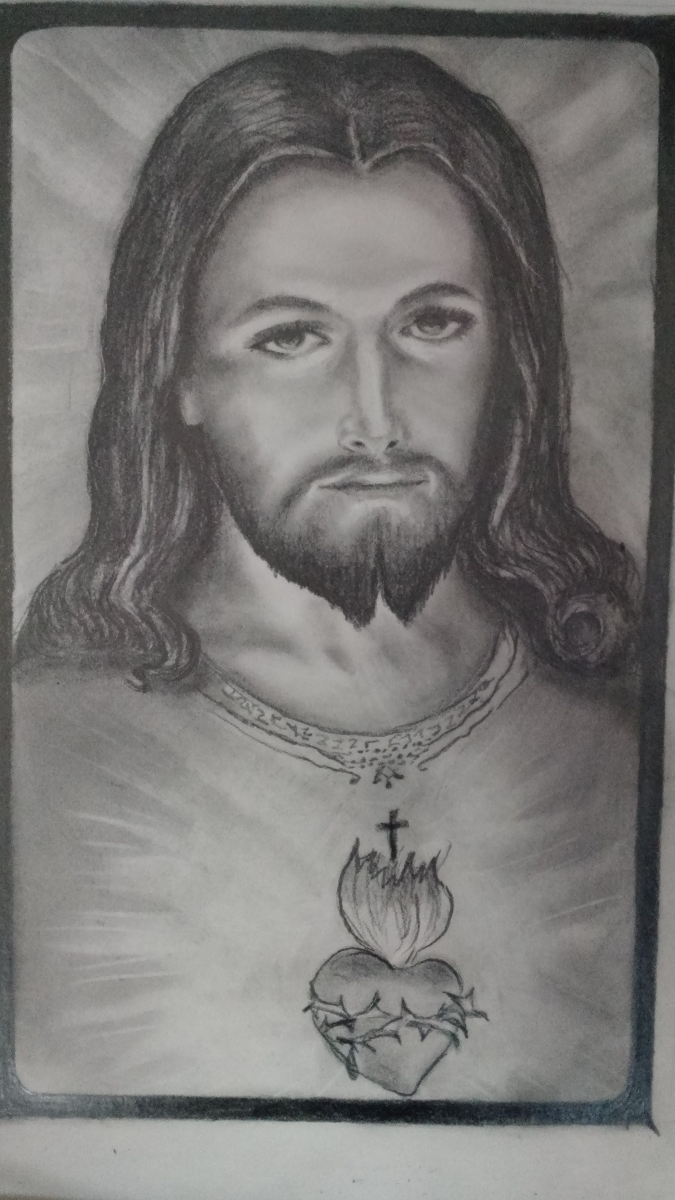 Graphite drawing jesus christ in 2019 graphite drawings
