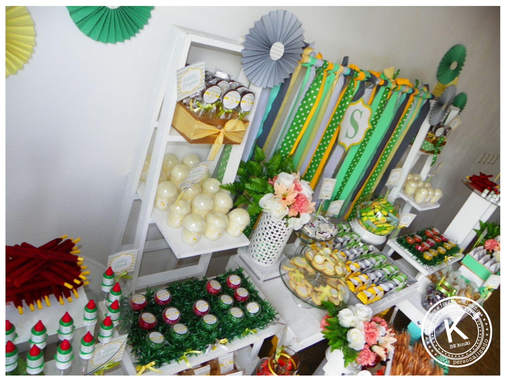 Mesa De Dulces Candy Bar Bautizo Ni 241 O Postres