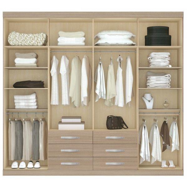 23 ideas para mejorar tu placard actual o elegir mejor el for Roperos empotrados para dormitorios con poco espacio
