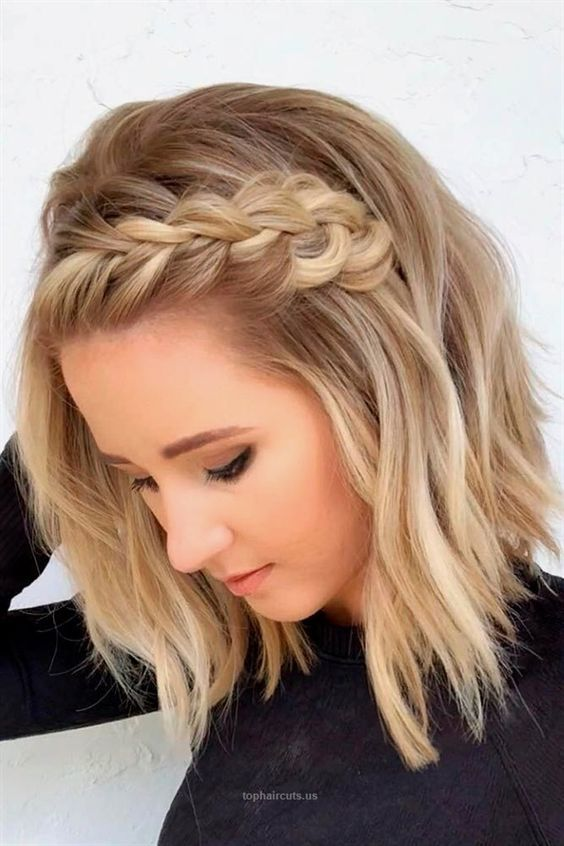 33 Coiffure Tresse Quotidienne Que Vous Pouvez Utiliser Coiffures De Longueur Moyenne Coiffure Mariage Cheveux Courts Coiffures Modernes