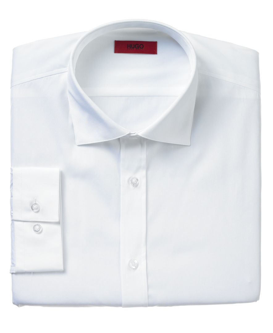 Hugo by Hugo Boss Fitted Solid Dress Shirt