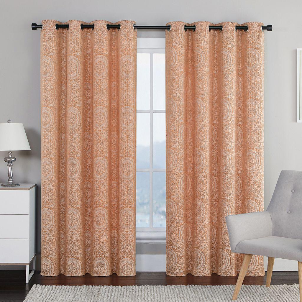 VCNY 2 Pack Utopian Jacquard Curtains   54u0027u0027 ...