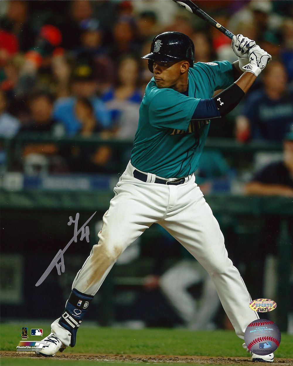 Ketel Marte Autographed 8x10 Photo Seattle Mariners