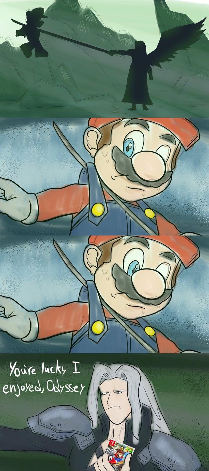 Sephiroth Is A Fan Sephiroth Impaling Mario In 2021 Super Smash Bros Brawl Super Smash Bros Memes Smash Bros Funny