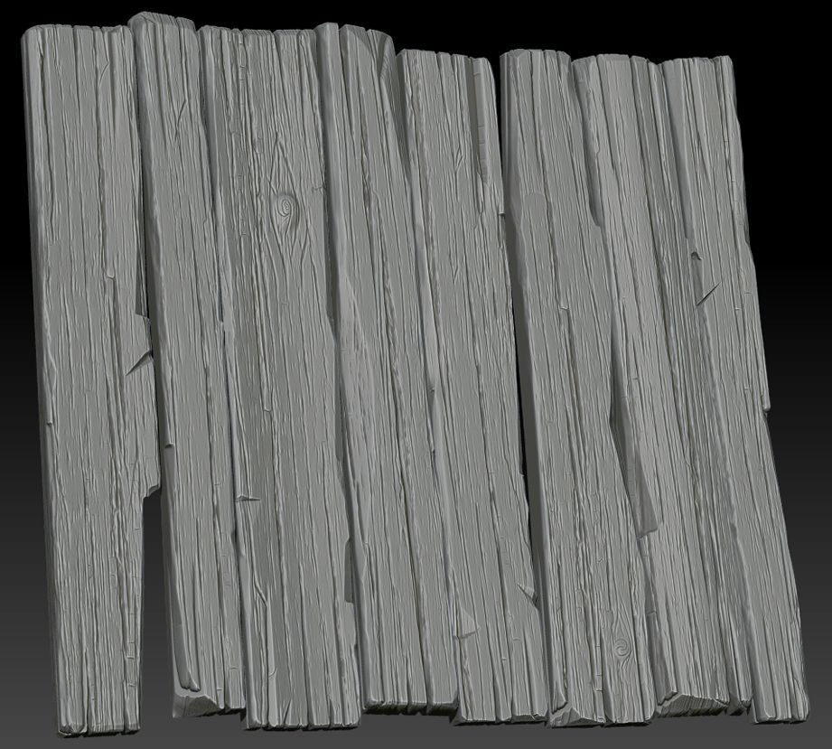 Wooden Post Texture create a rough wood texture using zbrush, 3ds max and photoshop