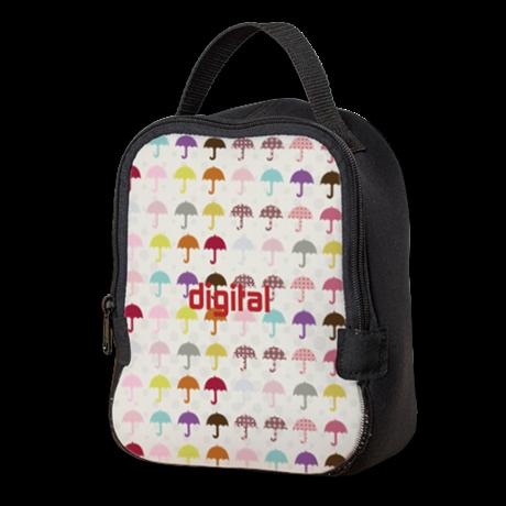 Chic Umbrella Travel Neoprene Lunch Bag by Technotext - CafePress