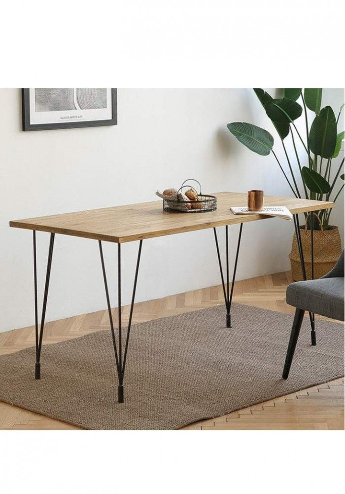 A Sleek Design Of Dining Table In Contemporary Style Plywood Dining Table With Matching Chairs