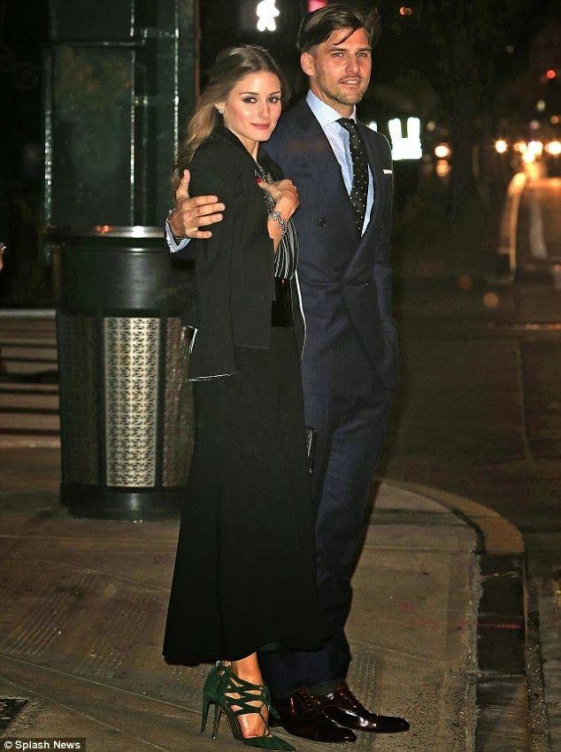 The Olivia Palermo Lookbook : Olivia Palermo with Johannes Huebl in New York City.