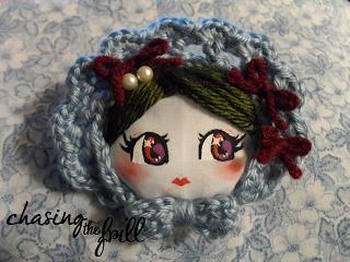 Chasing the Frill Craft Blog >> adorable Bunka Doll Face Brooch