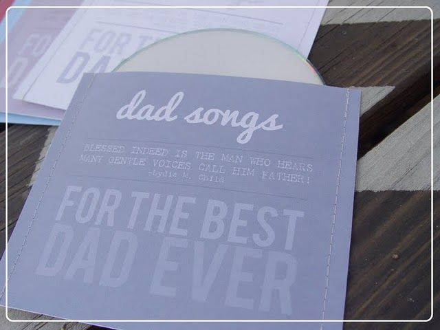 Printable cd cover for all those Dad songs