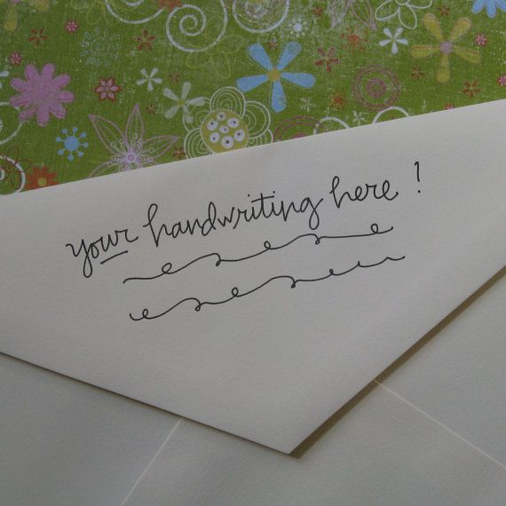 35 your handwriting turned into a return address stamp