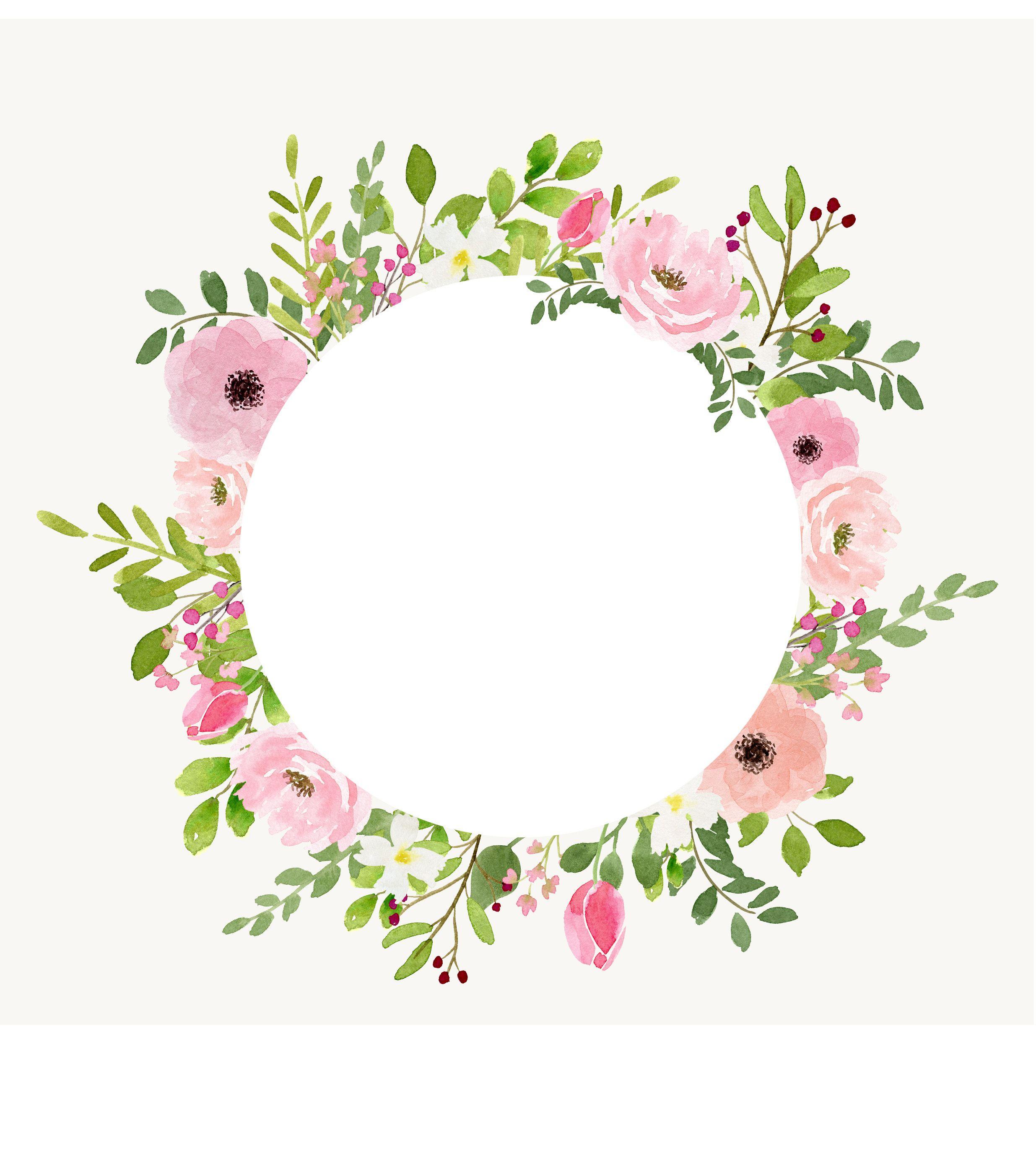 Anne Marie S Watercolour Florals Floral Wreath Watercolor Floral Watercolor Circle Painting