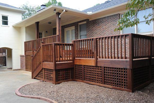 Best Style Brazilian Hardwood Deck With Custom Lattice 400 x 300