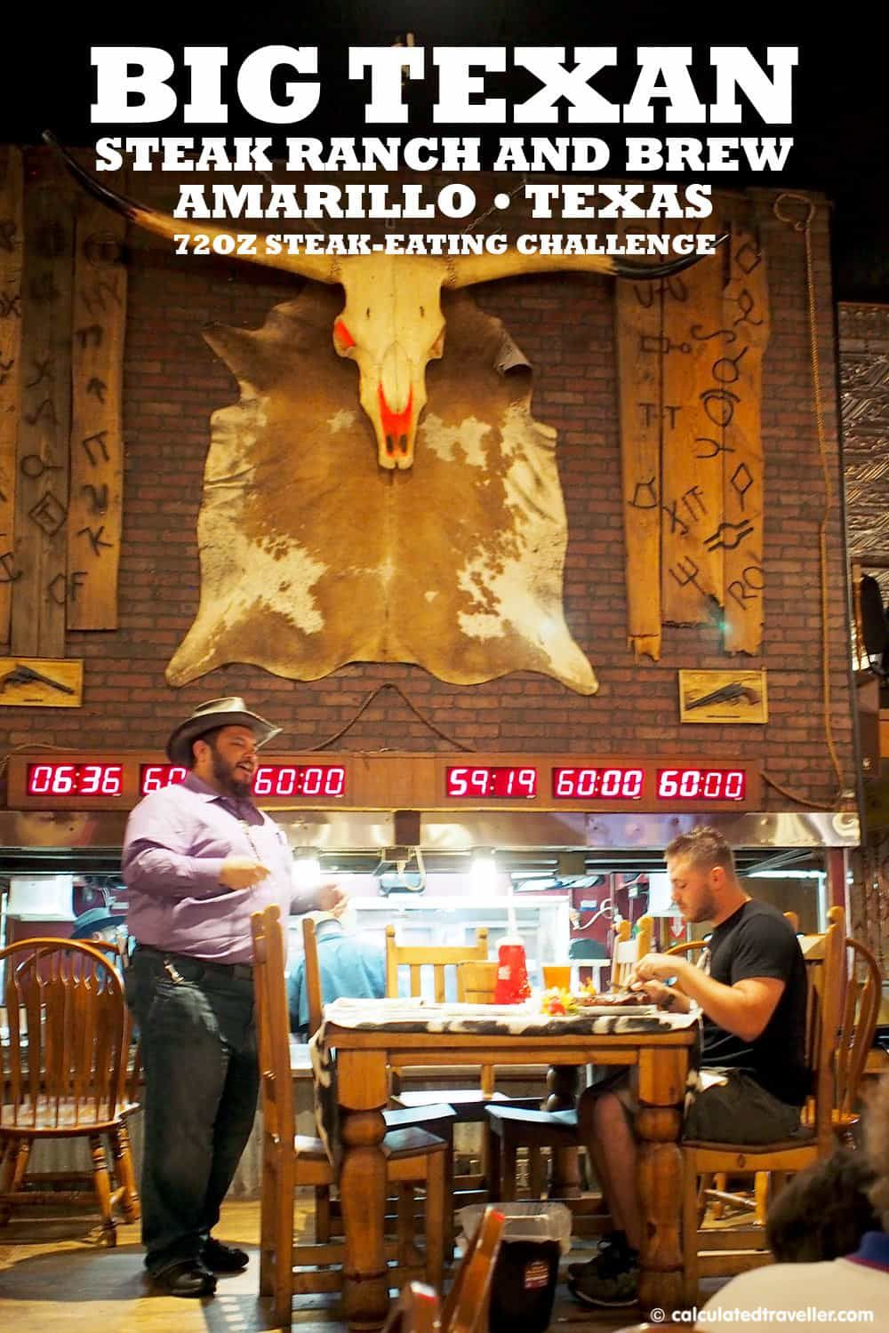 Eating Big At The Big Texan Steak Ranch And Brew In Amarillo