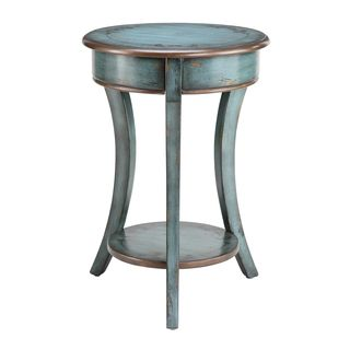 Overstock Freya Round Accent Table Incorporate a sense of rustic