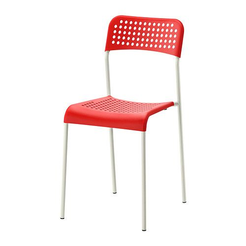 ADDE Sedia, rosso, bianco | Ikea, Sedie e Cucina industriale