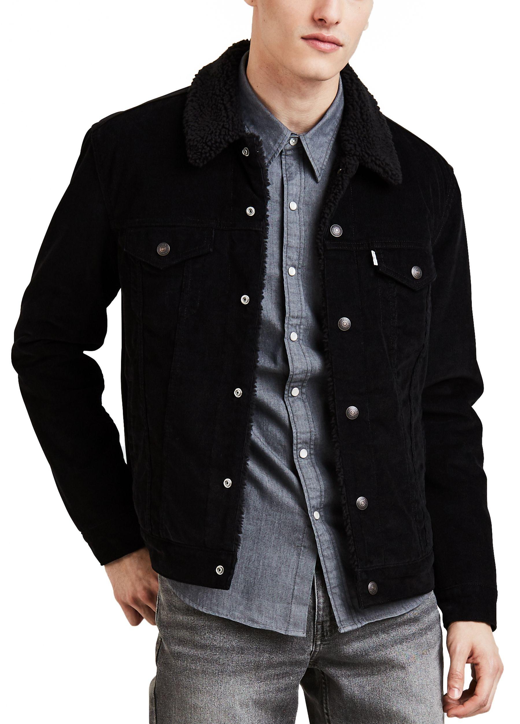 Levi Black Corduroy Jacket Western Denim Shirt Black Denim Jacket [ 2500 x 1799 Pixel ]
