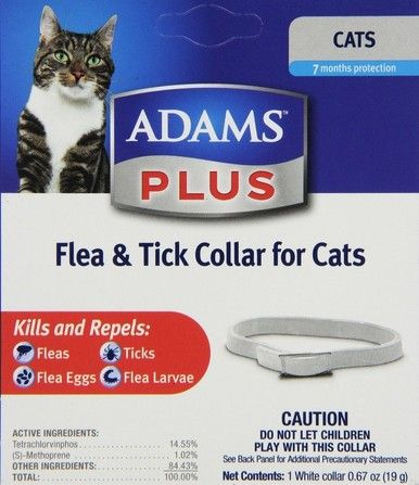 Adams Plus Flea and Tick Collar for Cats 7 Month