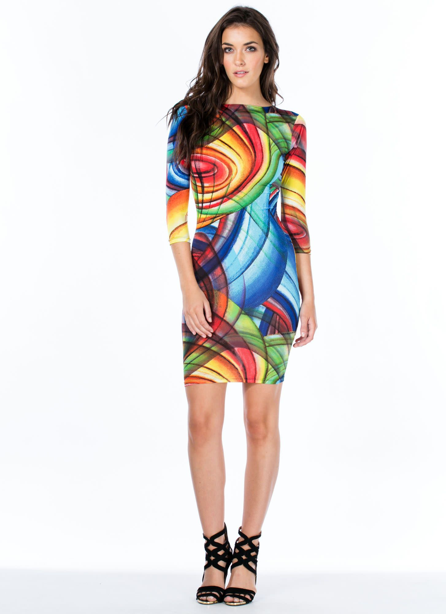 Give It A Swirl Bodycon Dress - GoJane.com   My Style   Bodycon ...