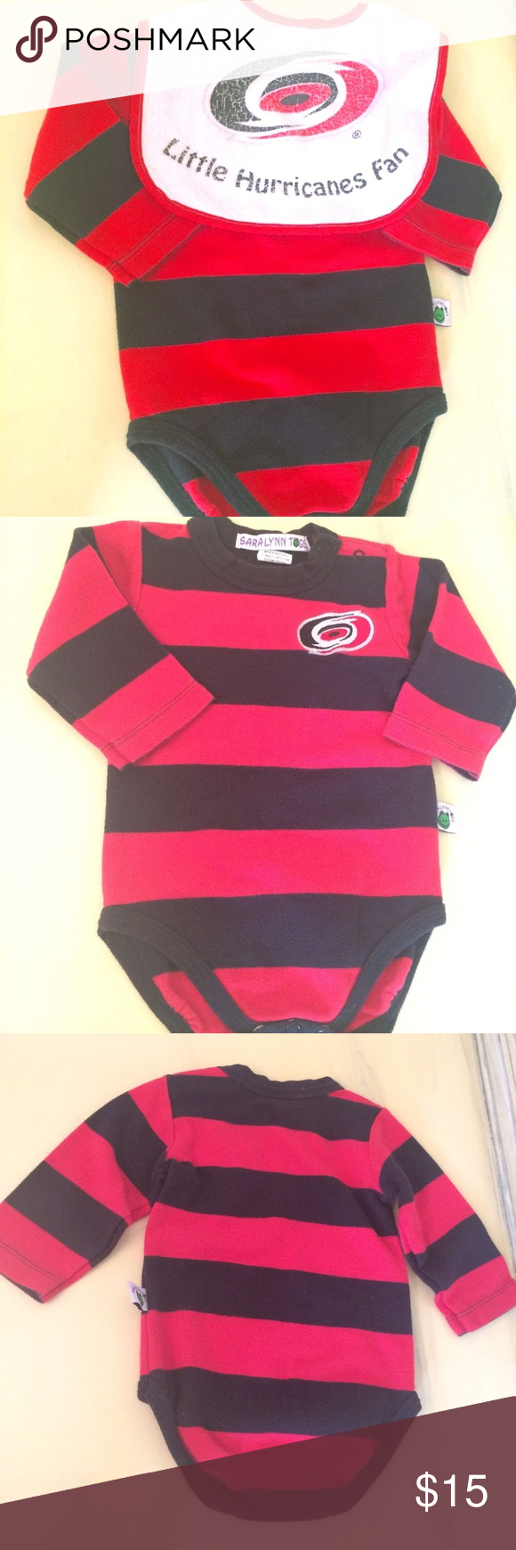 12 Months Baby Boy Hurricanes Bodysuit + Bib Set Here is a 2 piece outfit  for 287e87633b