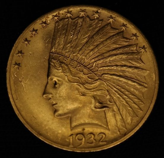 United States 10 Dollar 1932 Eagle Indian Head Gold Indian Head Dollar Gold