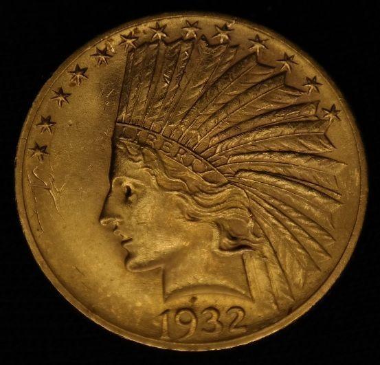 United States 10 Dollar 1932 Eagle Indian Head Gold Indian Head Dollar Gold