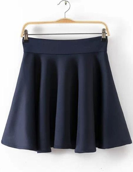 $22, Black High Waist Pleated Skirt. Sold by Romwe. Click for more info: https://lookastic.com/women/shop_items/279913/redirect