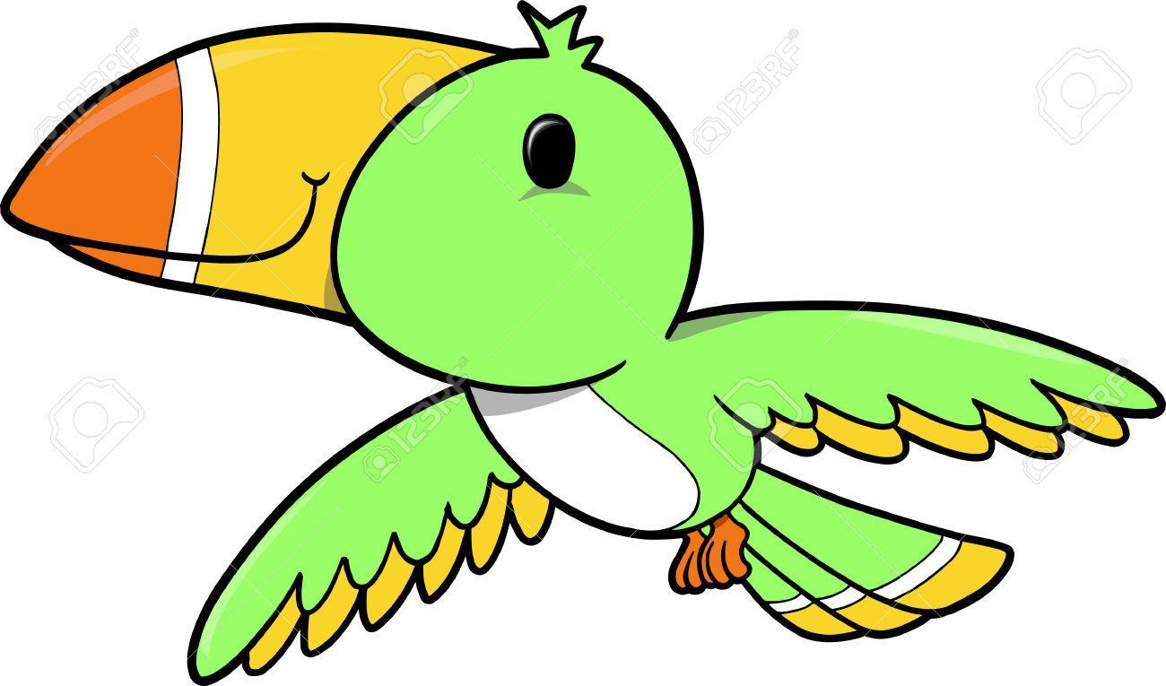 Tropical Bird Vector Illustration Vector Illustration Tropical Birds Illustration