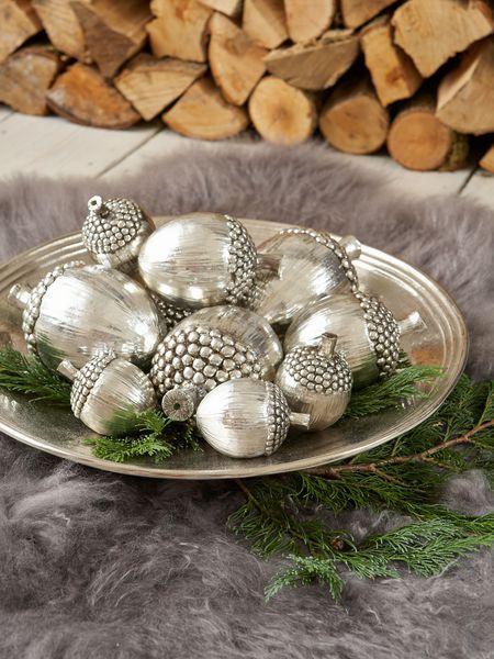Metallic Silver Acorns Via Http Www Nordichouse Co Uk