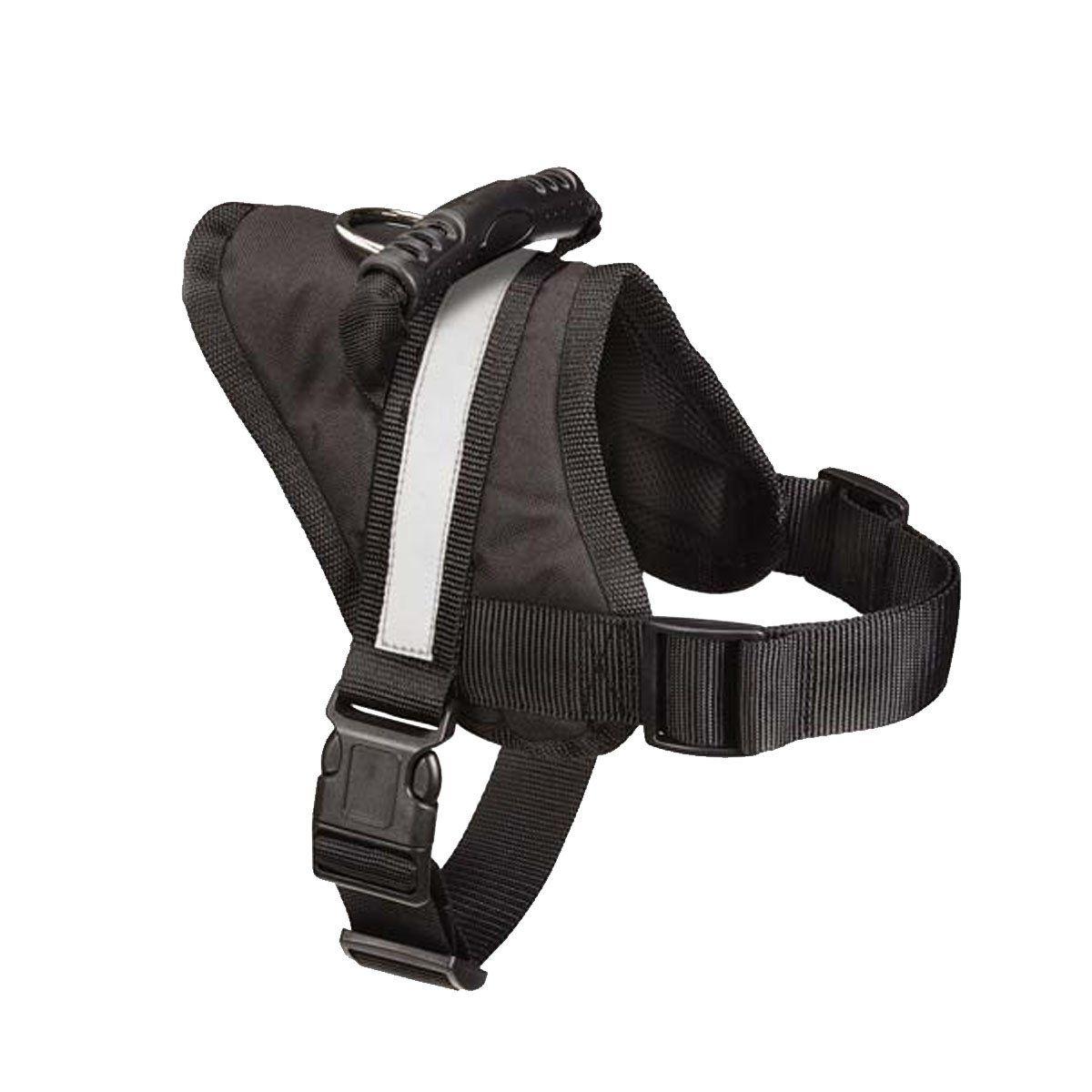Big Dog Harness Soft Reflective No Pull Black Size L 2636