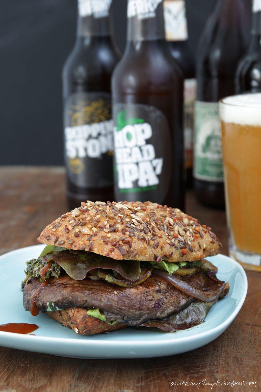 portobello pilz burger mit birne & craft beer // nikesherztanzt