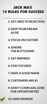 10 Rules For Success Jack Ma Inaspirational Pinterest Success