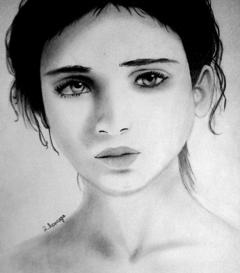 Sad girl drawing to draw pinterest sad girl drawing for How to draw a girl looking down