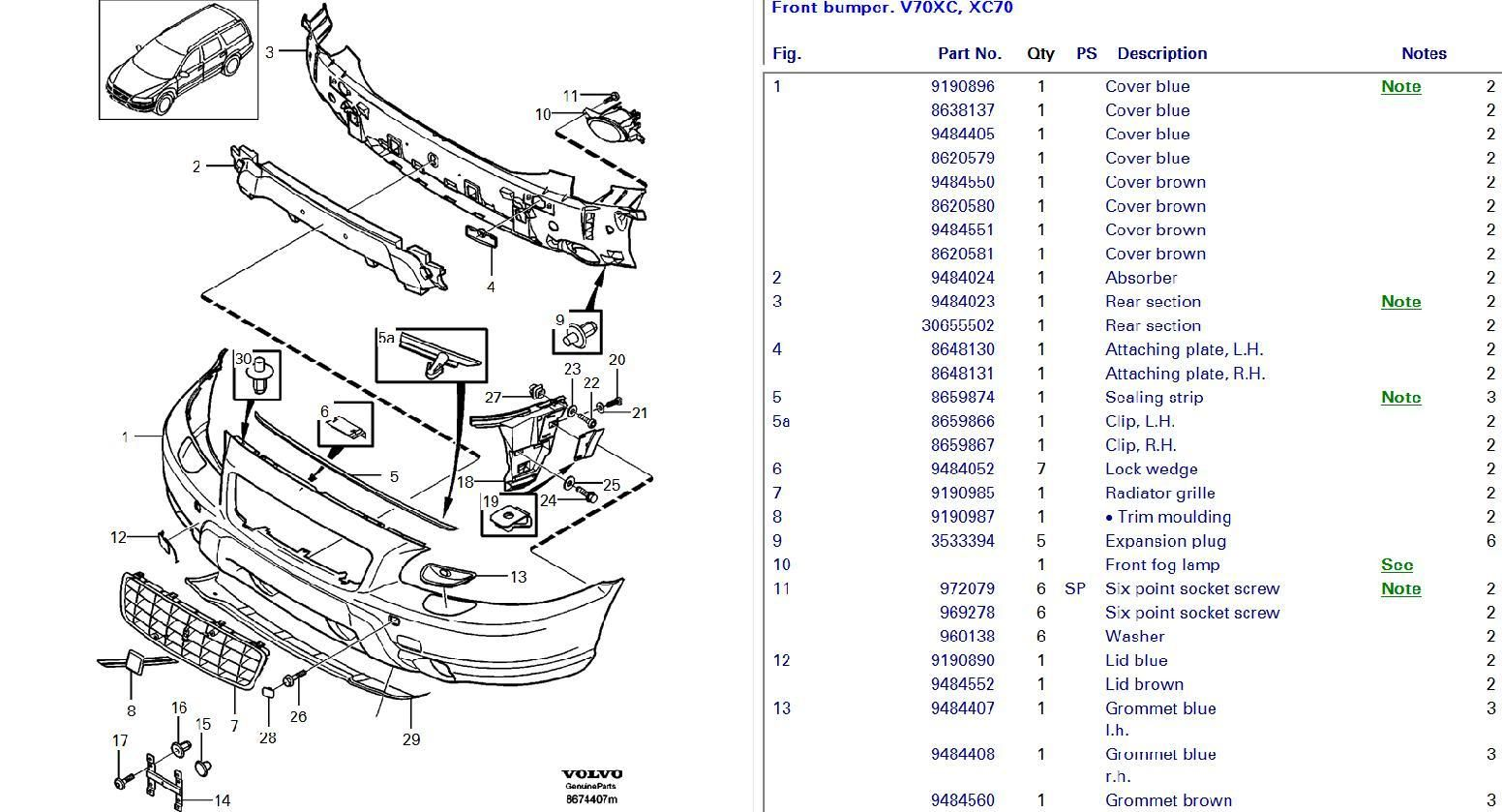 service manual  how to remove front bumper 2006 volvo xc70