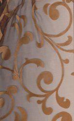 Bronze Flocking Swirl Rental Linen  #PartyMosaic