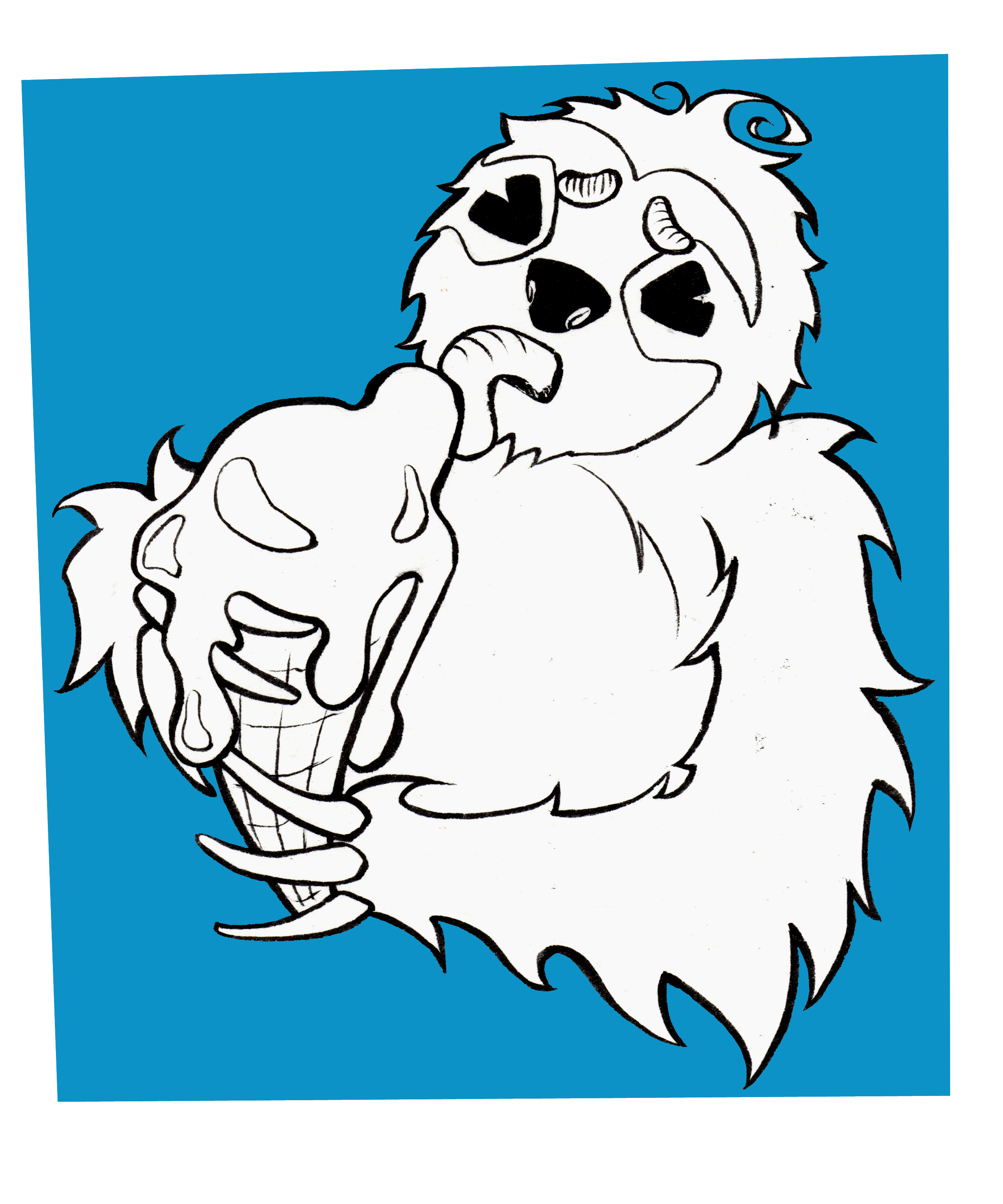 That Sure Is Not Easy Fom Him 3 Cute Sloth Eating An Ice Cream