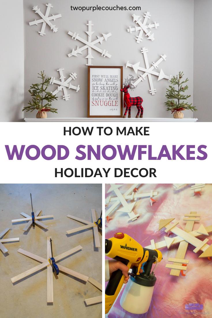 How To Make Diy Wood Snowflakes Wood Snowflake Christmas Decor Diy Wood Diy