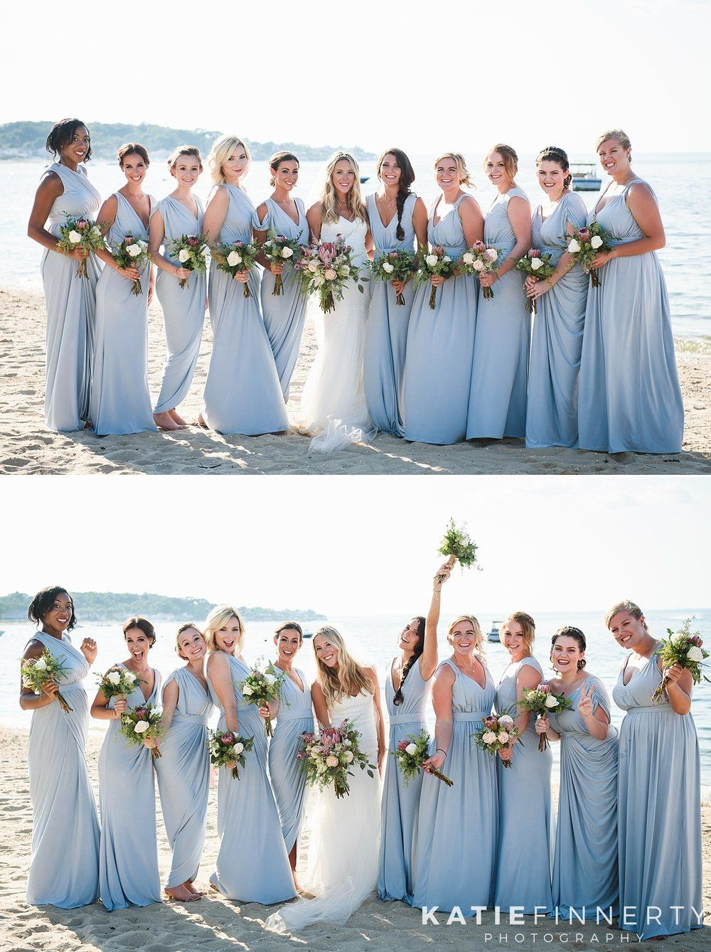 Love these light blue bridesmaid dresses from the white runway for love these light blue bridesmaid dresses from the white runway for this long island wedding at the crescent beach club photographed by rochester ny ombrellifo Choice Image