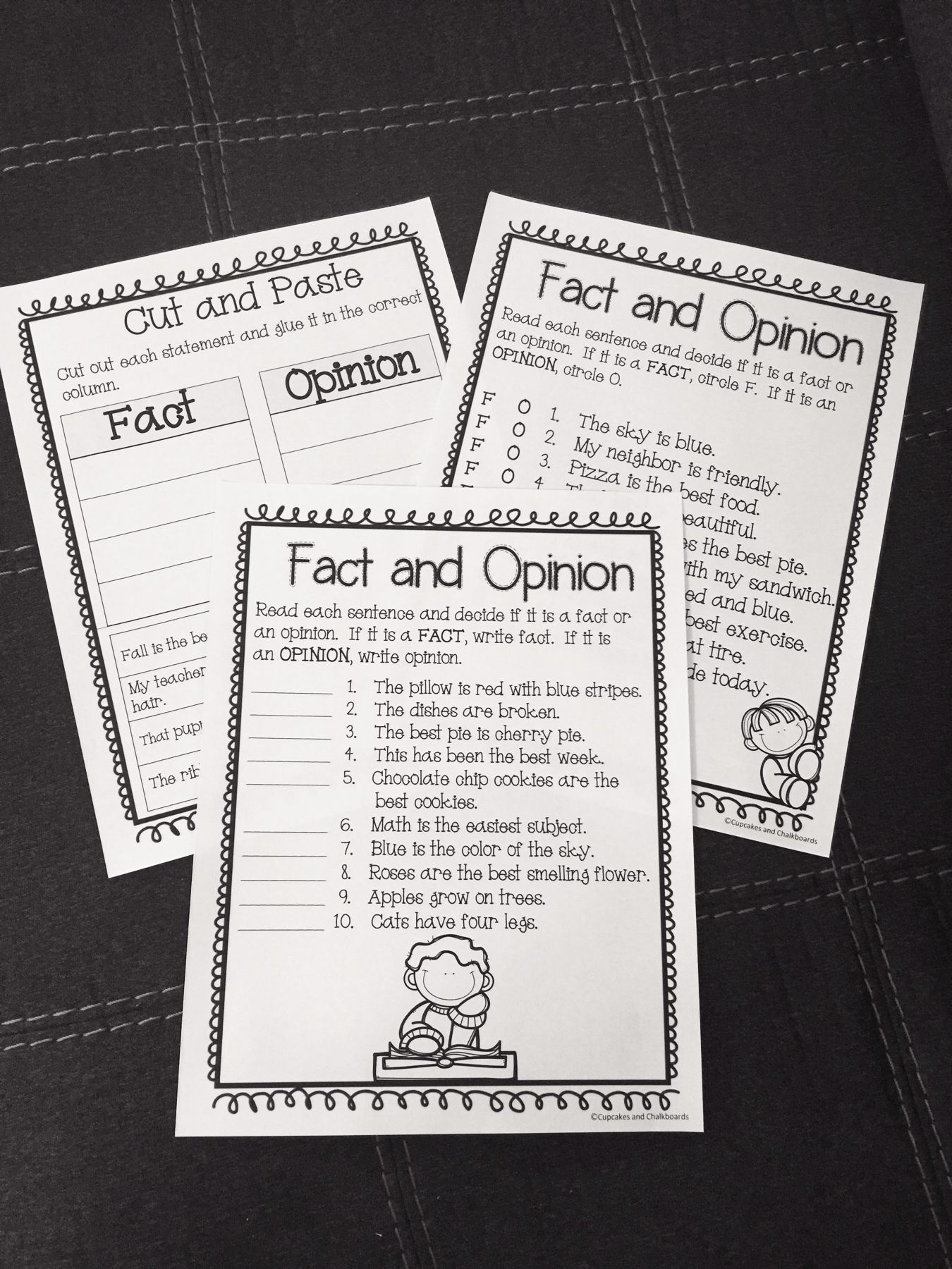 Worksheets To Help Teach And Practice Facts And Opinions Posters Are Also Included Fact And Opinion Fact And Opinion Worksheet Help Teaching