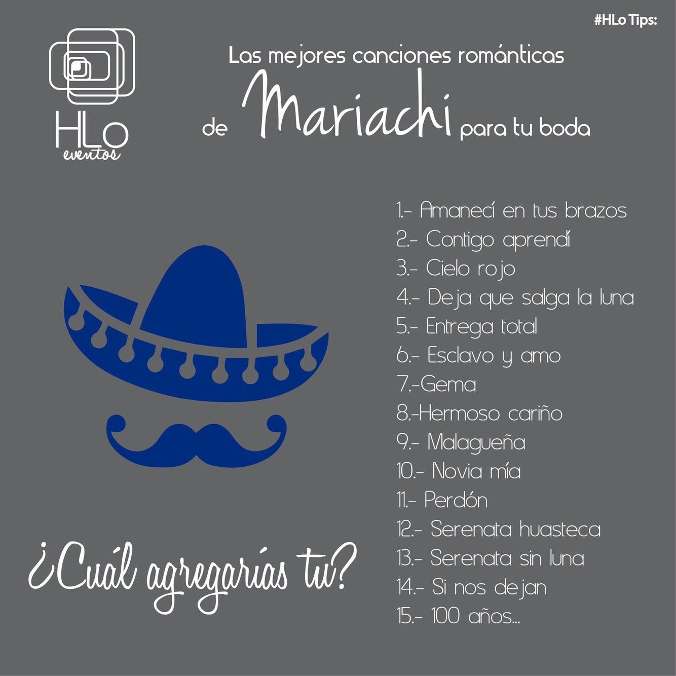 #HLo Tips: Las mejores canciones románticas con mariachi para tu boda  – Boda