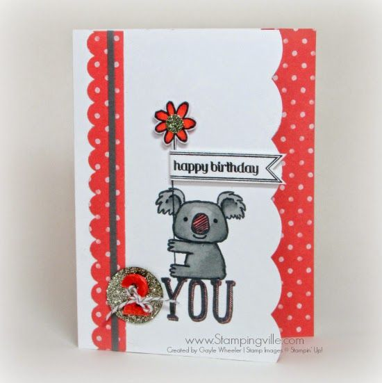 Cute childrens birthday card with stampin up kind koala stamp cute childrens birthday card with stampin up kind koala stamp bookmarktalkfo Images