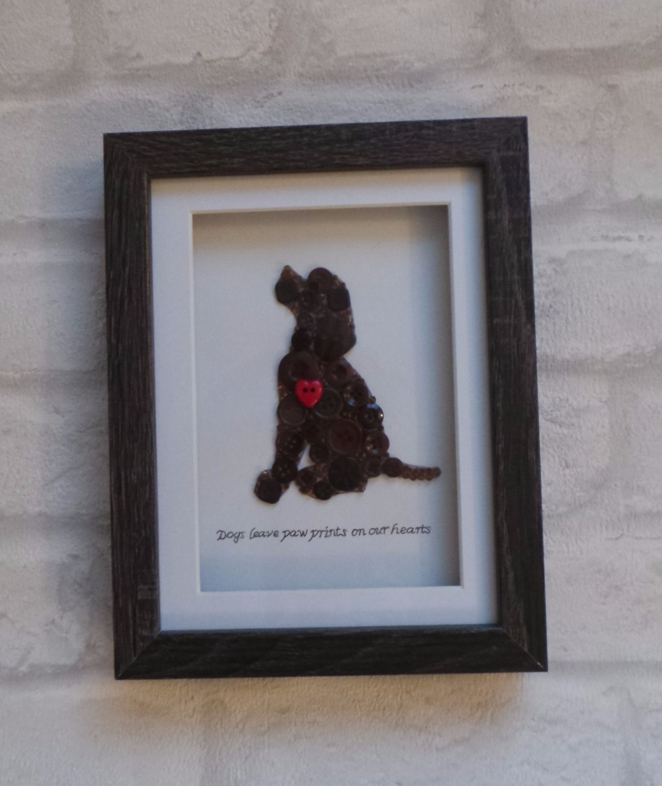Dog button picture wall art in box frame ebay button art dog button picture wall art in box frame ebay jeuxipadfo Image collections