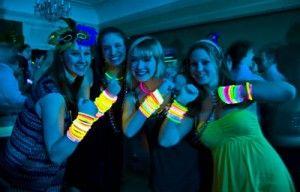 Sweet sixteen party glow bracelets