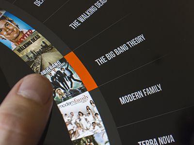 iPad Roulette menu   Menu navigation   Ui design inspiration