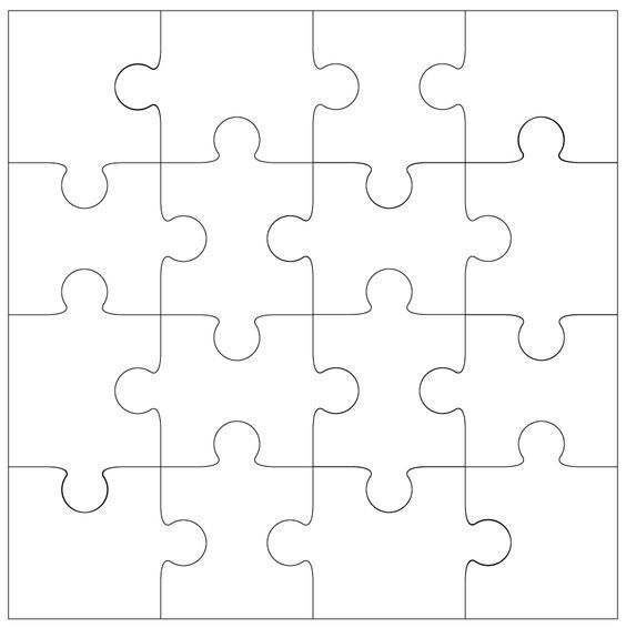 Giant Puzzle Piece Template Coloring  Coloring Pages