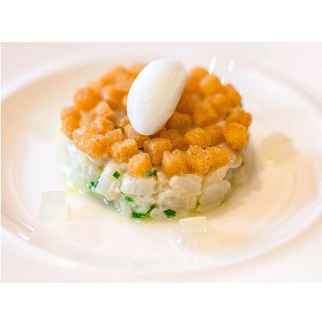 Tartare of North Sea red gurnard served with Scottish gooseberries @dominicjackct  @CastleTerraceEd @ShaunMcCarron1 #Edinburgh #onemichelinstar #TheArtOfPlating #michelinguide #chefsofinstagram #1michelinstar #castleterrace #dominicjack by stephenperez70